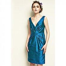 Šaty - Hodvábne koktejlky modré - 2591631