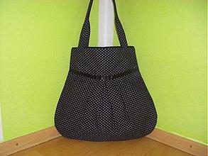 Veľké tašky - Čierna so sivou bodkou 2 - 2593402