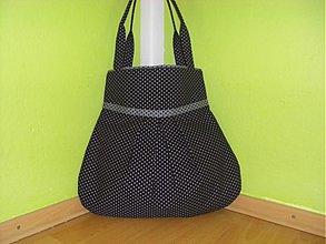 Veľké tašky - Čierna so sivou bodkou - 2593409