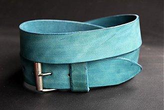 Opasky - Kožený opasek (modrý) - 2594612