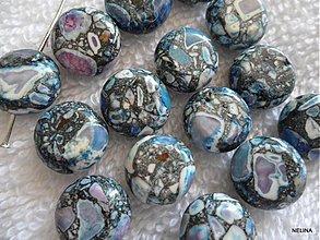 Minerály - MARBLE placka 10mm-modrá-1ks - 2598077