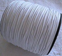Galantéria - Bavlnená voskovaná šnúrka 1,5mm-1m - 2598262