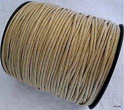 Galantéria - Vosk.šnúrka 1,5mm-1m (béžová) - 2598285
