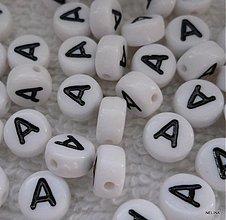 Korálky - Písmenká plast-lentilky-1ks - 2598383
