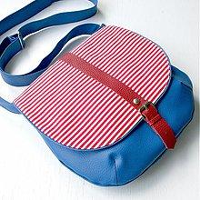 Kabelky - Adeline (modro-červená) - 2599395