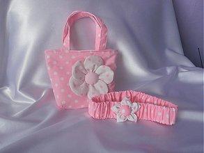 Kabelky - Taštička s čelenkou ružová - 2600511