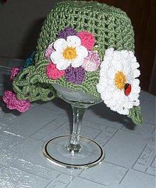 Detské čiapky - Letny kvetinkovy pestrofarebny - 2603202