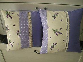Úžitkový textil - 2x levandulové vankúšiky - 2604224