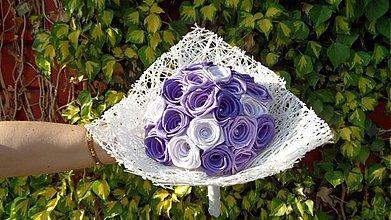 Kytice pre nevestu - Fialová, fialovejšia...svadobná kytica - 2604624