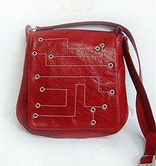 Kabelky - Crossbody kožená kabelka Ludevíka_Červená-METRO - 2607914