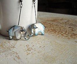 Náušnice - Mauricovi sloni - náušnice - 2608722