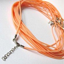 Komponenty - Silikónový náhrdelník (Svetlý oranžový) - 2609018