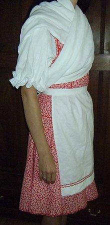 Iné oblečenie - dámsky ľudový kroj červený so zásterkou - 2609787