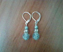 Náušnice - jemné bledomodré perly - 2609856