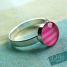 Prstene - Růžové p(r)omyšlení - stříbro - 2610429