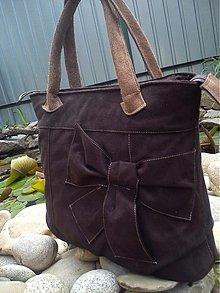 Veľké tašky - Jelenička s koženým uchom - 2612150