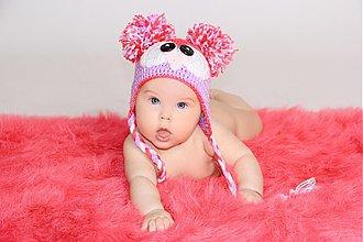 Detské čiapky - hačkované čiapky - 2613670