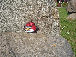 Dekorácie - Podšálka - červený Angry bird - 2617622