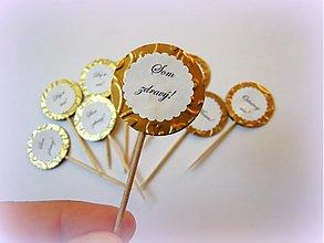 Dekorácie - Zlaté chuťovky... - 2617648