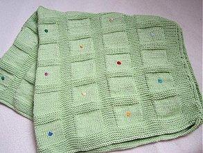 Textil - zelená dečka - 2617815