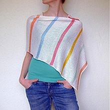 Iné oblečenie - Pončo farebné - 2617838