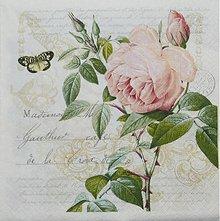 Papier - Ruža - Rose Botanical - 2618036