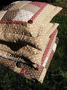 Úžitkový textil - Hnedé tóny...vankúše :))) - 2618649