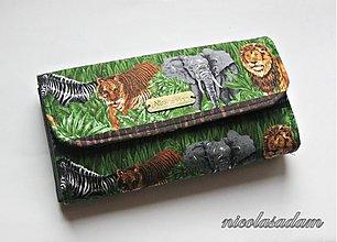 Peňaženky - Harmonika velká - divoká džungle - 2621897