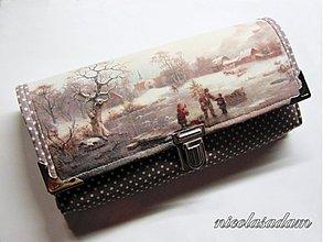 Peňaženky - Harmonika velká - zimní idylka - 2621976