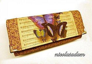 Peňaženky - Harmoniky velké - motýl fialovo-hnědý - 2622003