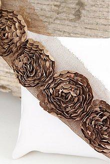 Galantéria - Ozdobný pásik kvet 019 - 2624178