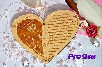 Tabuľky - Poďakovanie rodičom - veľké preglejkové - Elegant AKCIA - 2625960