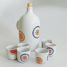 Nádoby - set s fľaškou kvet - 2631350