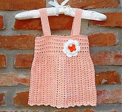 Detské oblečenie - Skladom- háčkované šaty - 2633334