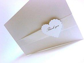 Papiernictvo - Ďakovné kartičky pre svadobčanov - 2634340