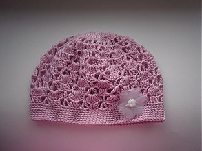 Detské čiapky - Ružová letná čiapočka - 2639069