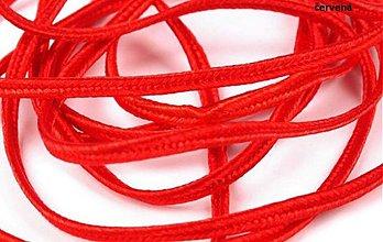 Galantéria - Sutaška šírka 3 mm, červená - 2639306