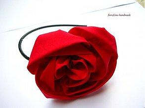 Ozdoby do vlasov - čelenka s ružou - 2640947
