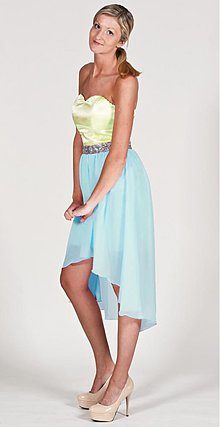 Šaty - Dvojfarebné šaty HighLow v akejkoľvek farbe - 2643079