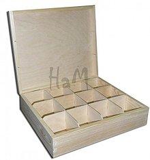 Polotovary - Krabička na čaje 12 priehradok - 2643293