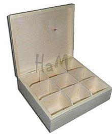 Polotovary - Krabička na čaje 9 priehradok - 2643297