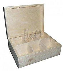 Polotovary - Krabička na čaje 6 priehradok - 2643305