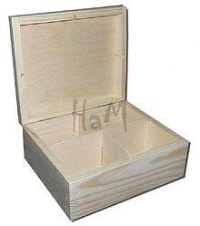 Polotovary - Krabička na čaje 4 priehradky - 2643313