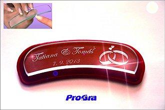 Darčeky pre svadobčanov - Svadobný pilníček - ergonomický - 2644878