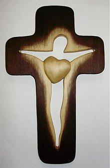 Dekorácie - svadobný kríž siluetový - 2644980