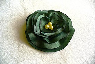 Brošne - saténový kvet - 2646692