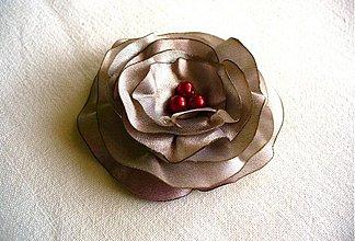 Odznaky/Brošne - saténový kvet - 2646971