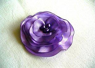 Brošne - saténový kvet - 2646988