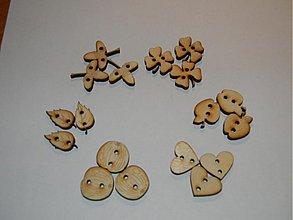 Galantéria - Gombiky drevene 2cm - 2647290