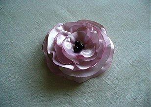 Brošne - saténový kvet - 2647975